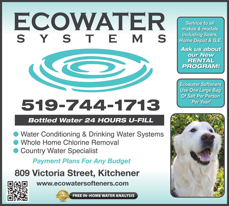 Ecowater Kitchener Water Softener Goldbook Ad Ecowater