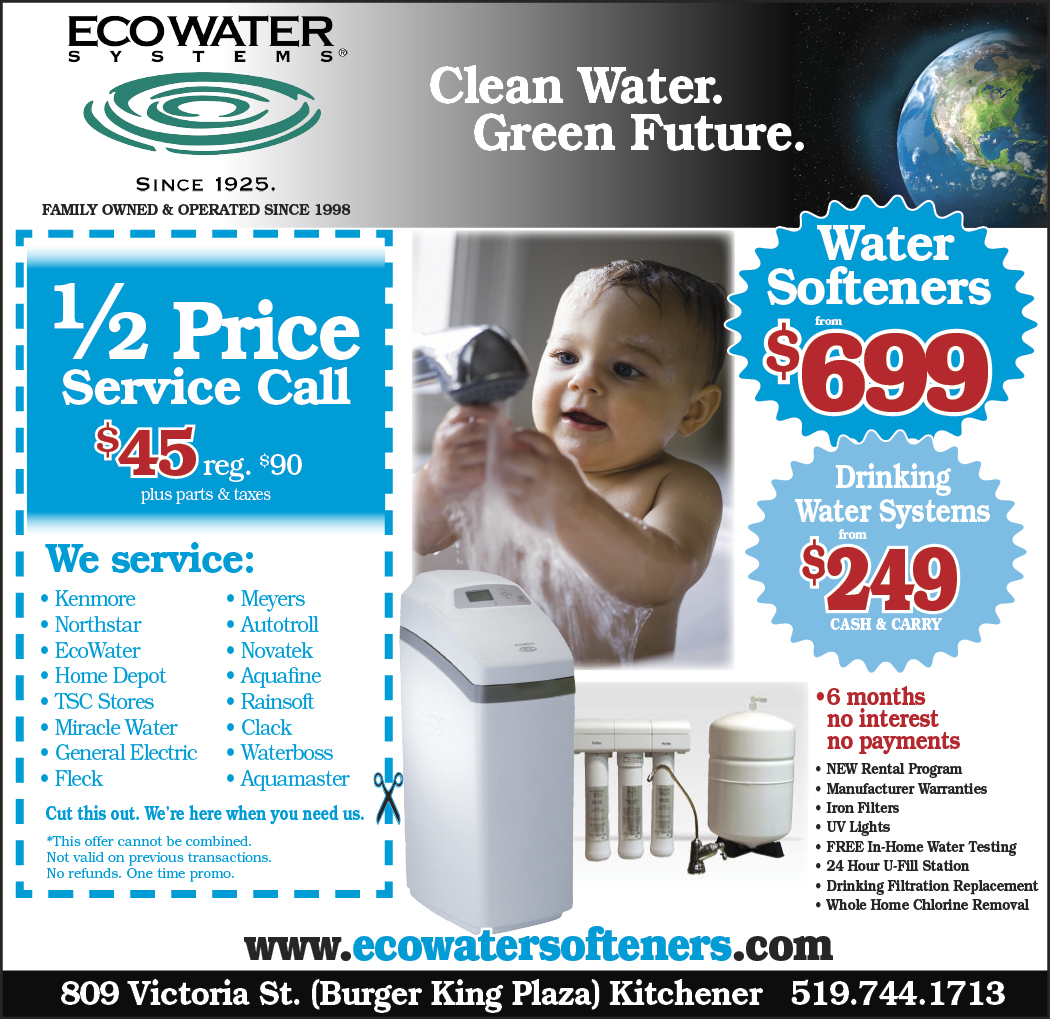 Water Softener Ad Kitchener Ecowater Systems Kitchener